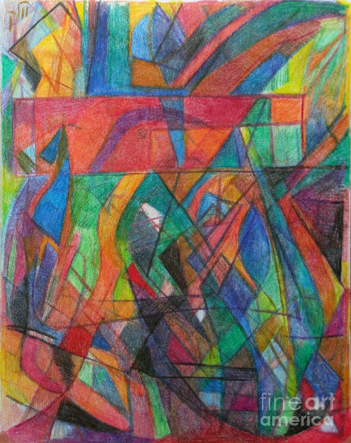 Torah Drawing - The Letter Dalet 2 by David Baruch Wolk