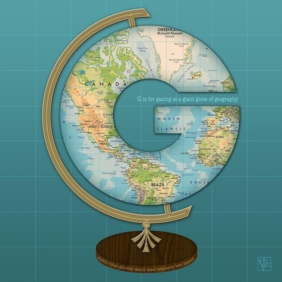 Letter G Digital Art - The Letter G by Valerie Drake Lesiak