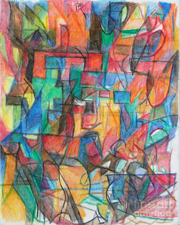 Drawing - The Letter Tav 2 by David Baruch Wolk