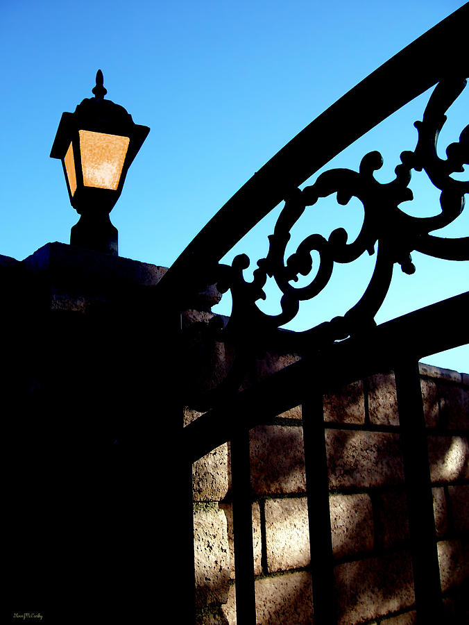 Gate Photograph - The Light And The Gate by Glenn McCarthy Art and Photography