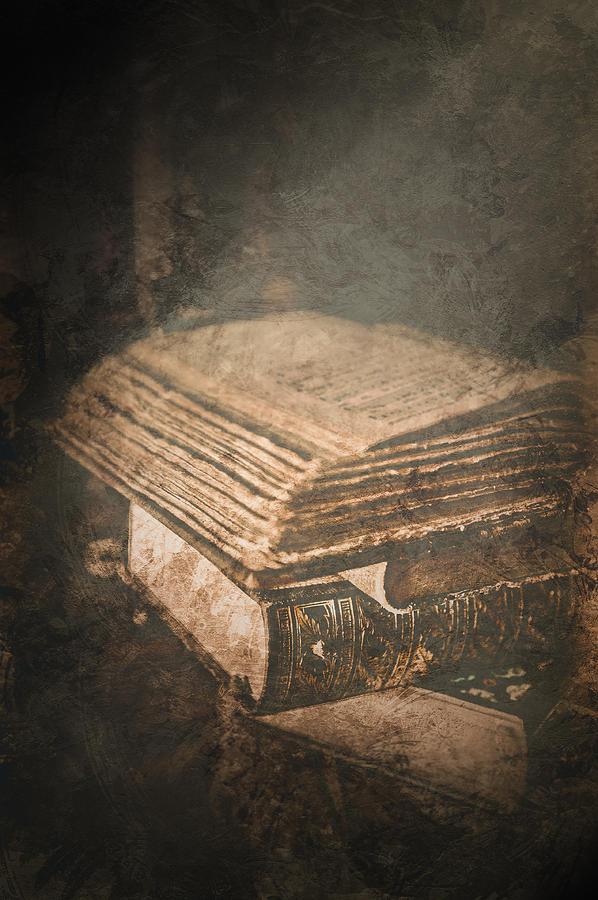 Antique Photograph - The Light of Knowledge by Loriental Photography