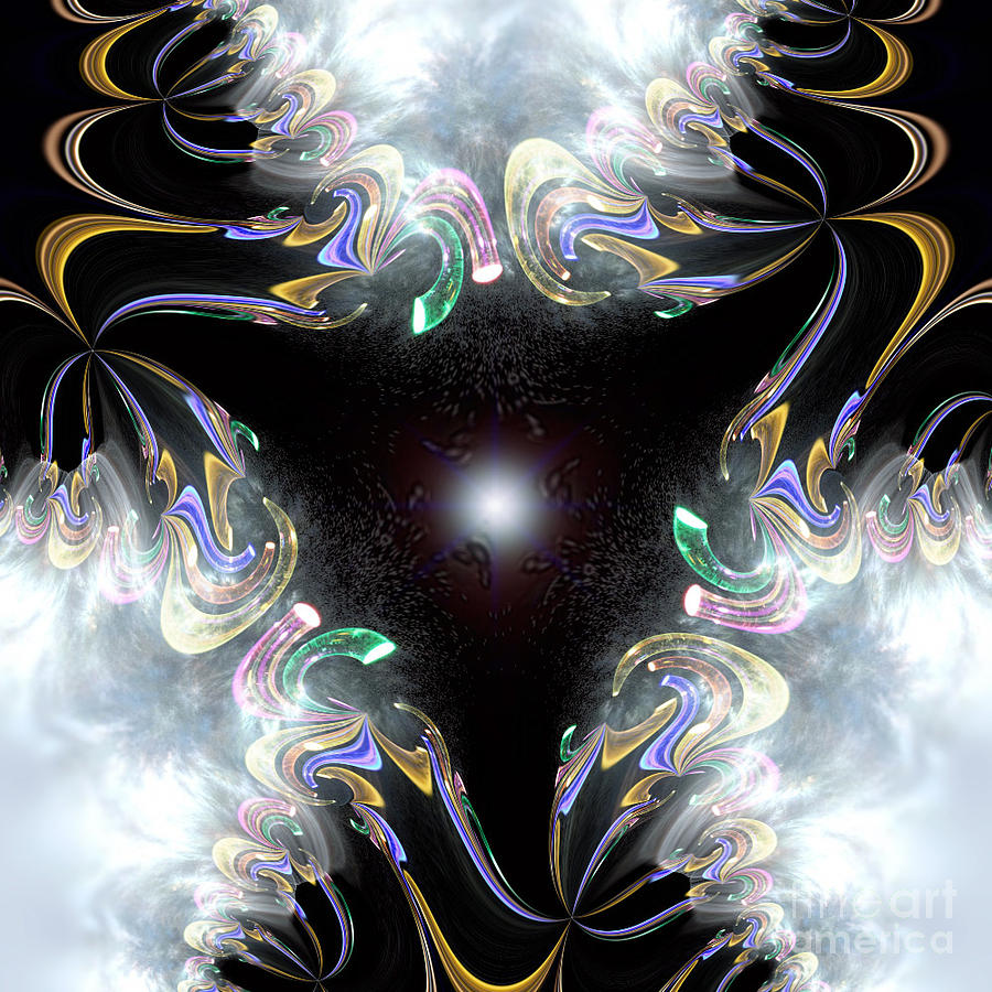 Simple Fractals Digital Art - The Light Of Life by Vidka Art