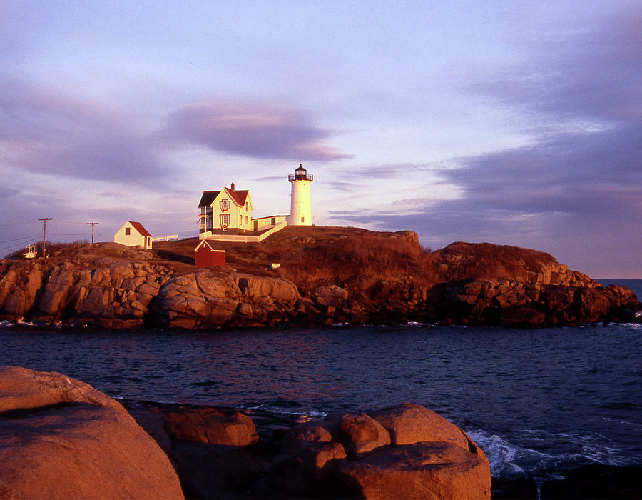 Light Photograph - The Light On The Nubble by Skip Willits