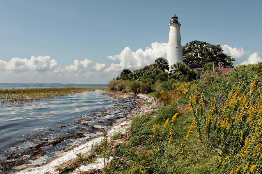 Lighthouse Photograph - The Lighthouse At St. Marks by Lynn Jordan