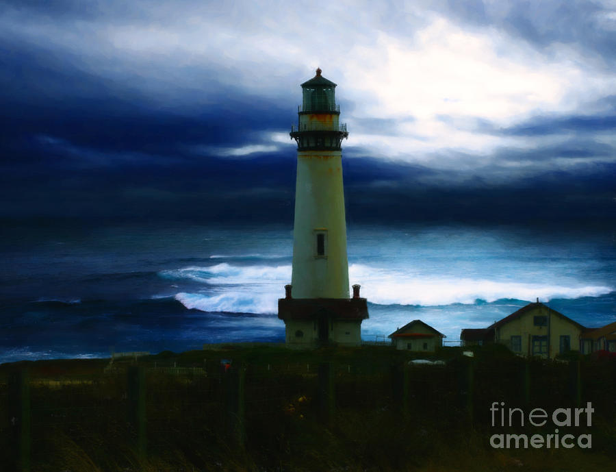 the lighthouse painting by cinema photography. Black Bedroom Furniture Sets. Home Design Ideas