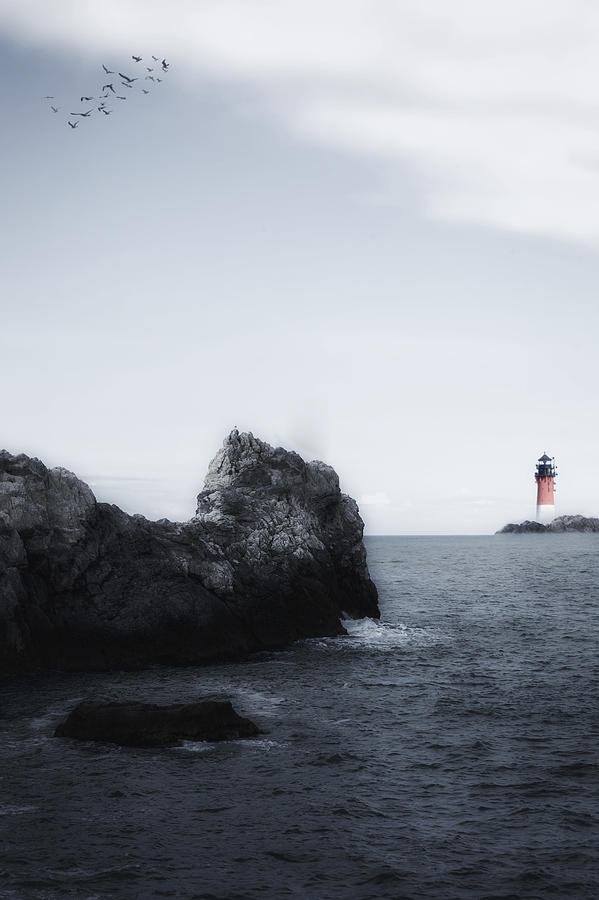 Sea Photograph - The Lighthouse by Joana Kruse
