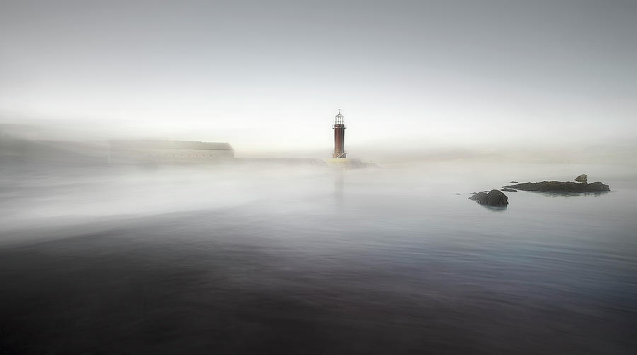 Landscape Photograph - The Lighthouse Of Nowhere by Santiago Pascual Buye