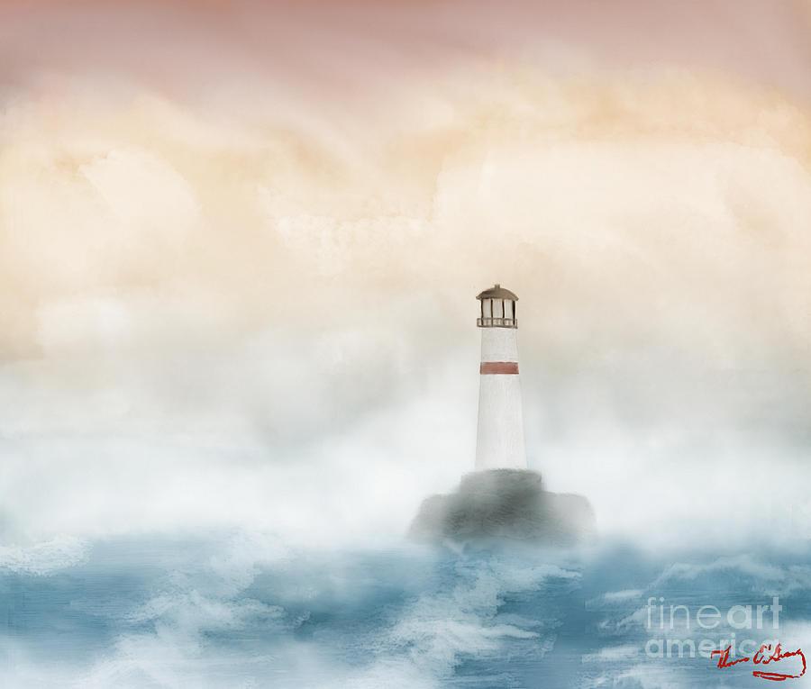 Lighthouse Digital Art - The Lighthouse by Thomas OGrady