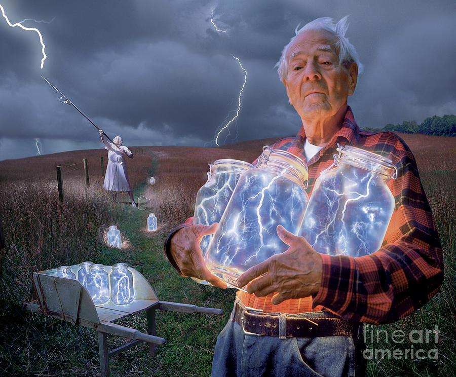Lightning Photograph - The Lightning Catchers by Bryan Allen