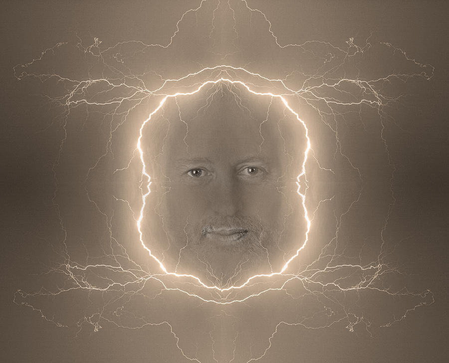 Brown Photograph - The Lightning Man Sepia by James BO  Insogna