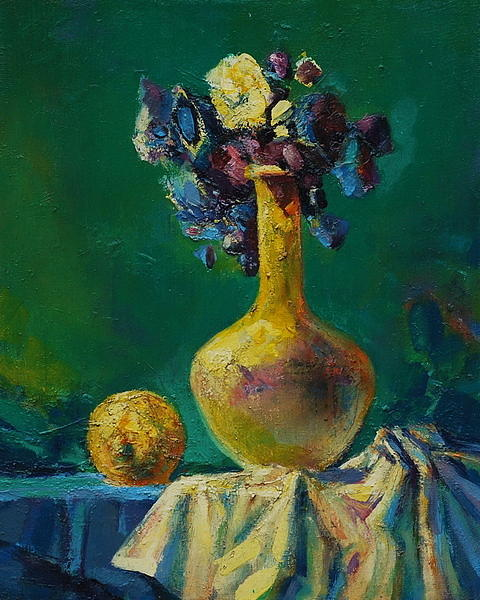 Vase Painting - The Lime by Ivan Tanev