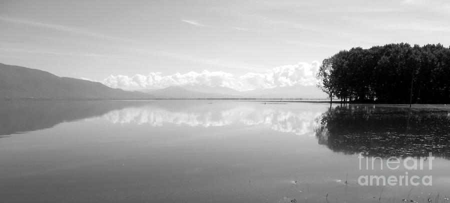 Lake Photograph - The Line by Ioanna Papanikolaou