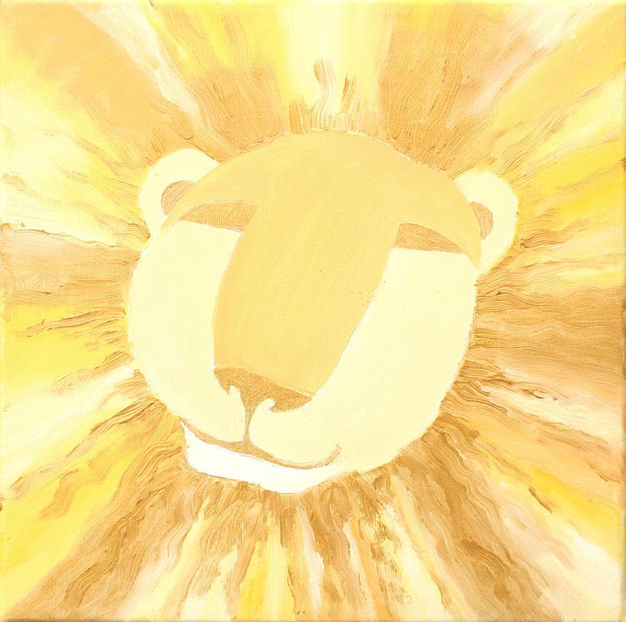 Lion Painting - The Lion A by Sandra Yegiazaryan