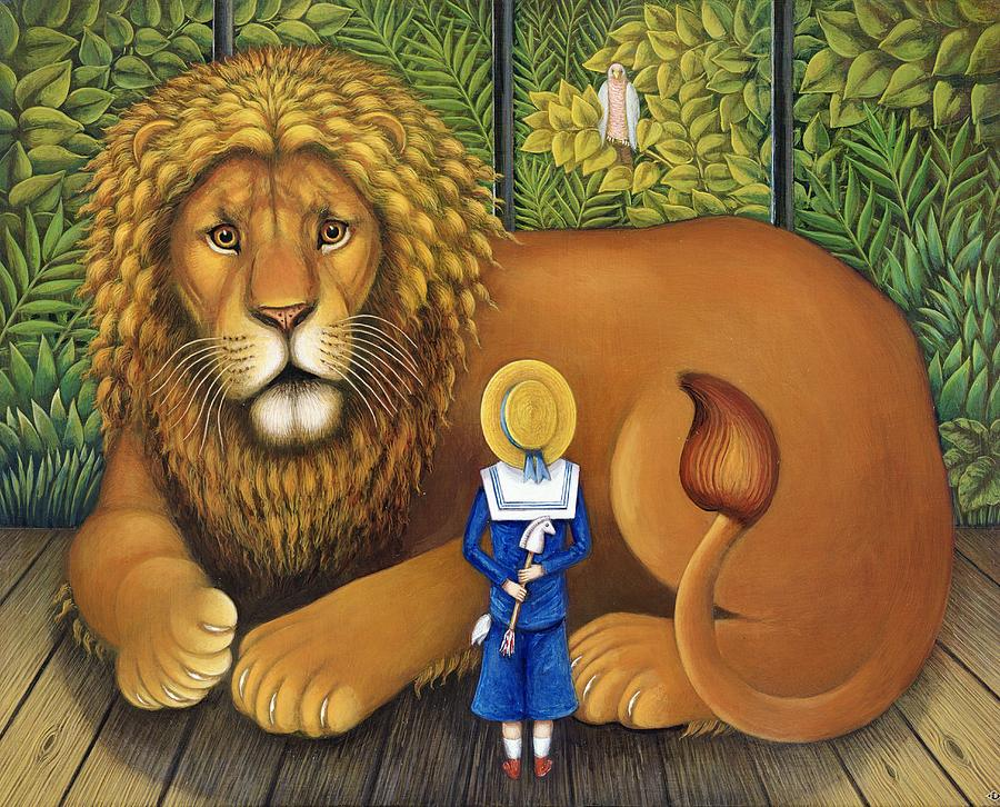 The Lion And Albert 2001 Painting By Frances Broomfield