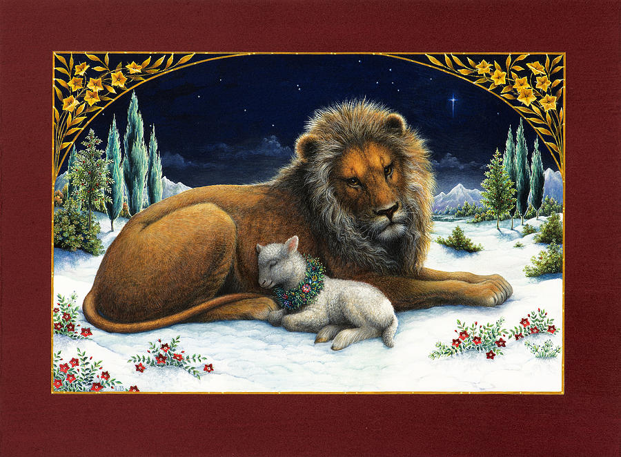 The Lion And The Lamb Painting by Lynn Bywaters