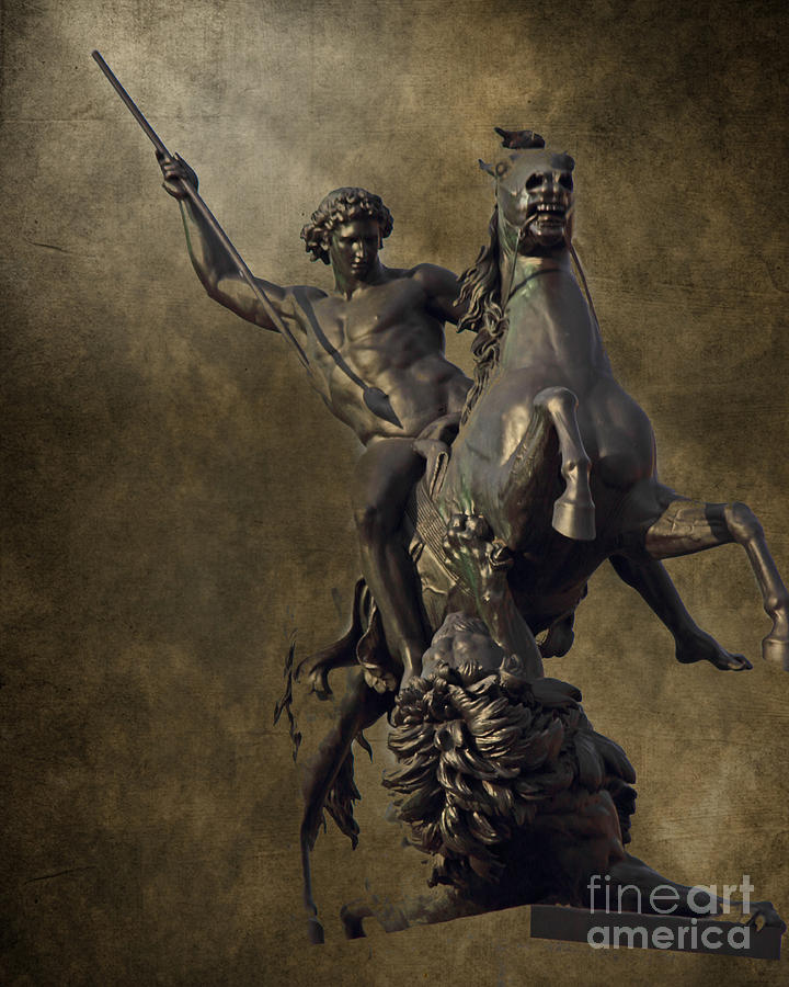 Bronze Photograph - The Lion Fighter by Tom Gari Gallery-Three-Photography