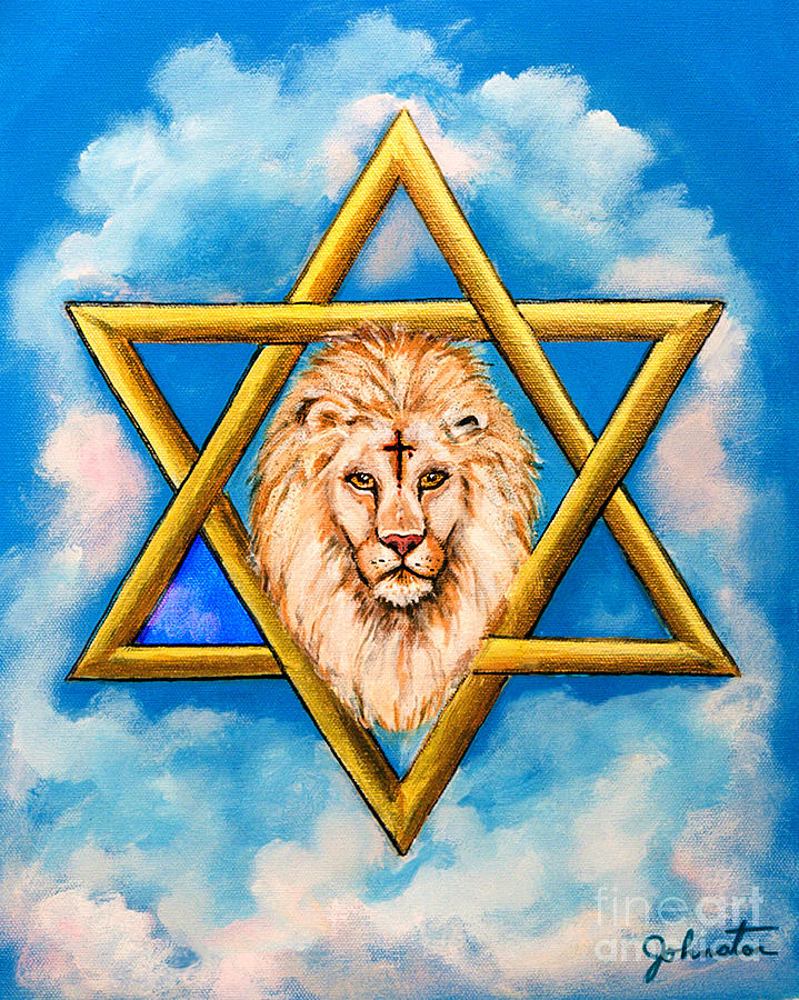 Anointed Painting - The Lion Of Judah #5 by Bob and Nadine Johnston
