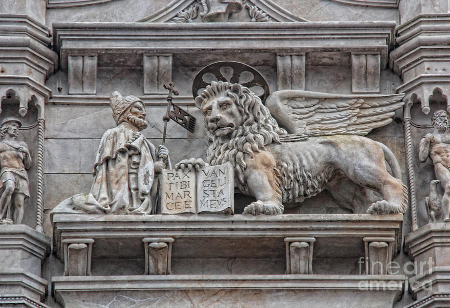 Byzantine Architecture Photograph - The Lion Of Saint Mark II by Lee Dos Santos