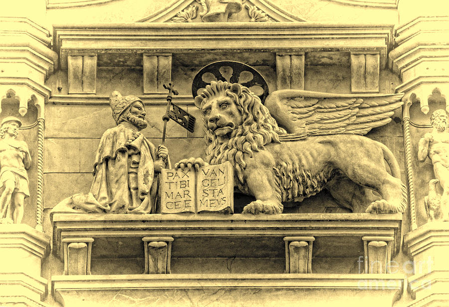 Byzantine Architecture Photograph - The Lion Of Saint Mark IIi by Lee Dos Santos