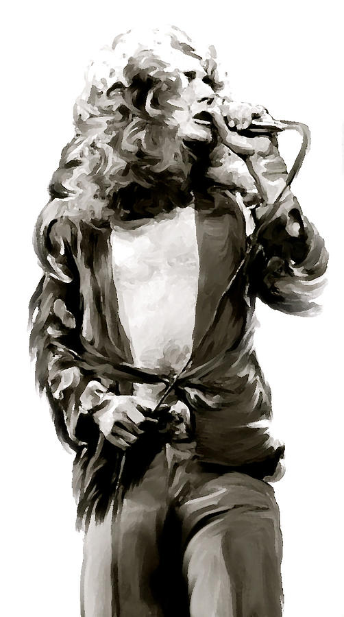 Robert Plant Painting - The Lion  Robert Plant by Iconic Images Art Gallery David Pucciarelli