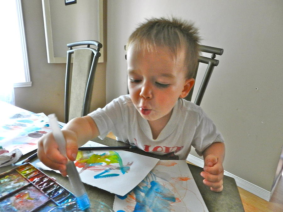 The Little Artist Painting