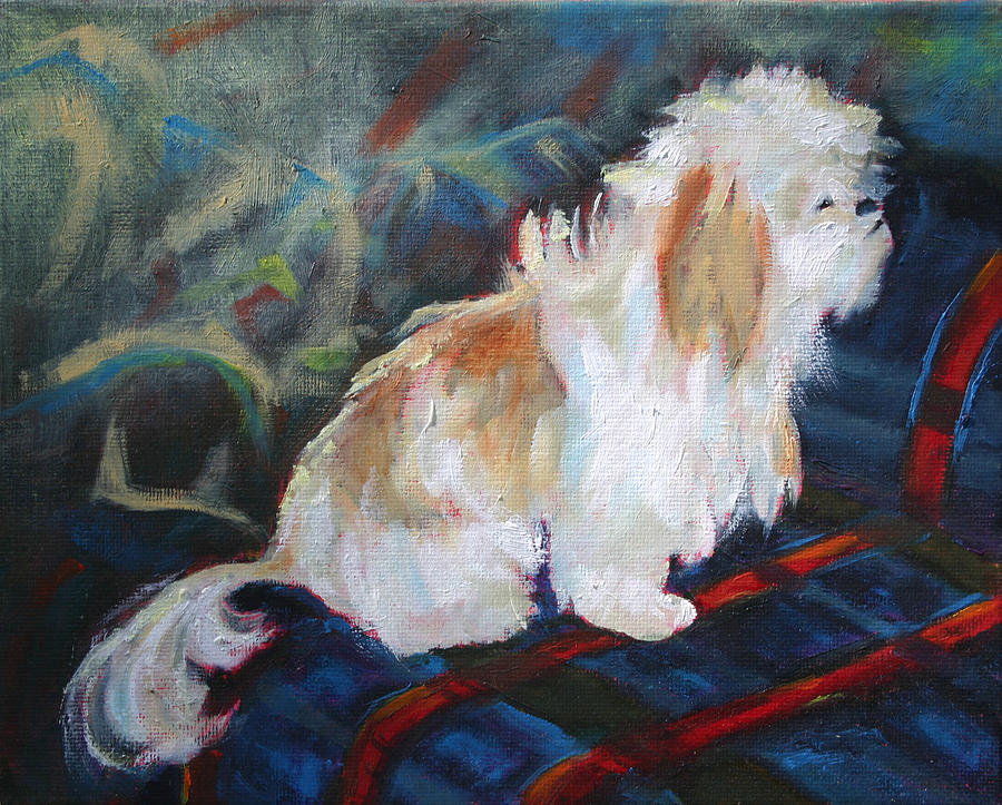 Dog Painting - The Little Dog Prince by Carol Jo Smidt