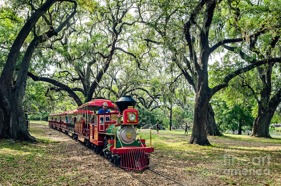 Train Photograph - The Little Engine That Could - City Park New Orleans by Kathleen K Parker