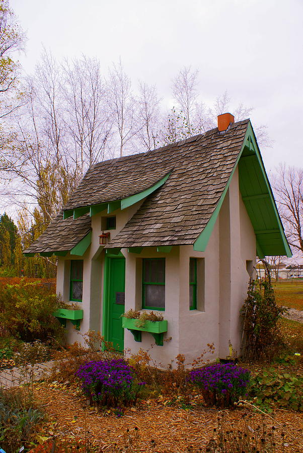 the little garden house photograph by jerry cahill