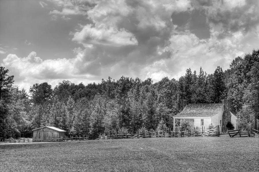 The Little House on the Prairie Black and white by Gerald Adams
