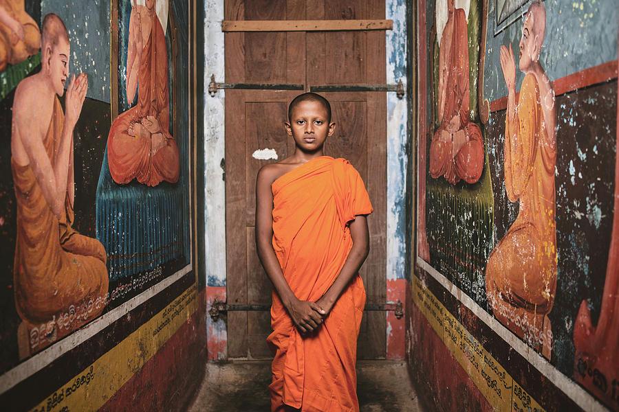 Monk Photograph - The Little Monk by Giacomo Bruno