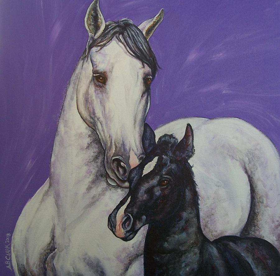 Horse Painting - The Little Prince by Beth Clark-McDonal