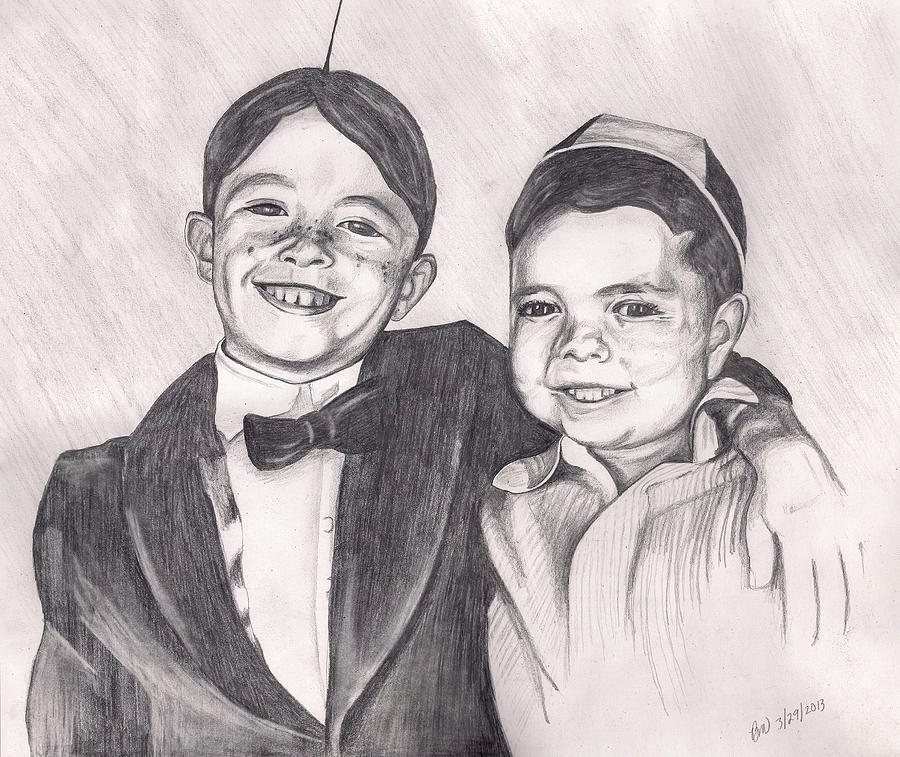 Spankie Drawing - The Little Rascals by Beverly Marshall