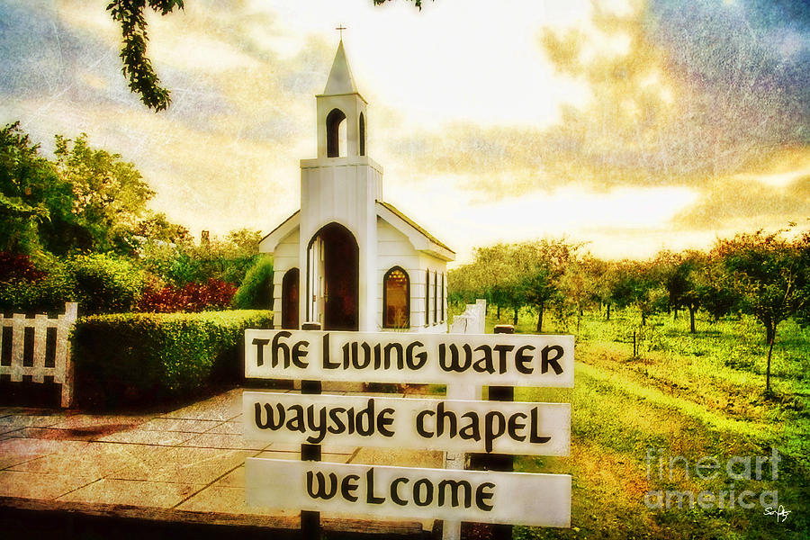 Chapel Photograph - The Living Water Wayside Chapel by Scott Pellegrin