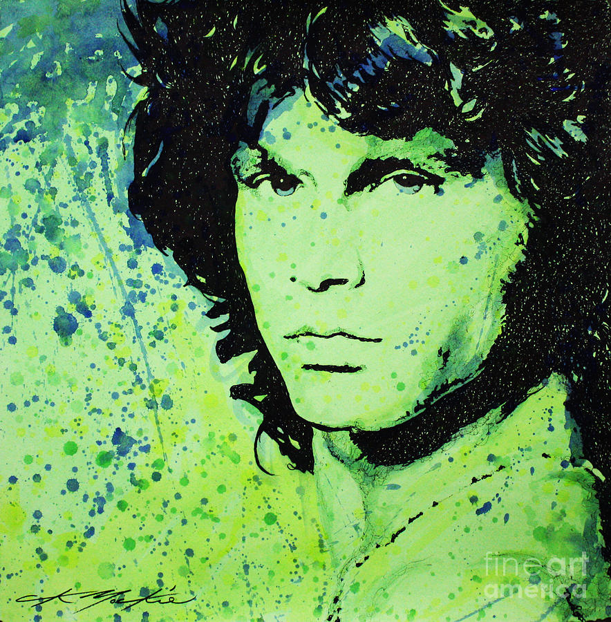 Jim Morrison Painting - The Lizard King by Chris Mackie