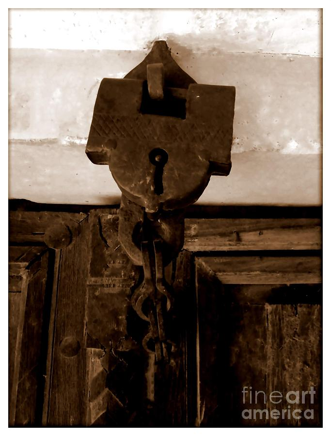 Door Lock Photograph - The Lock by Ankit Garg