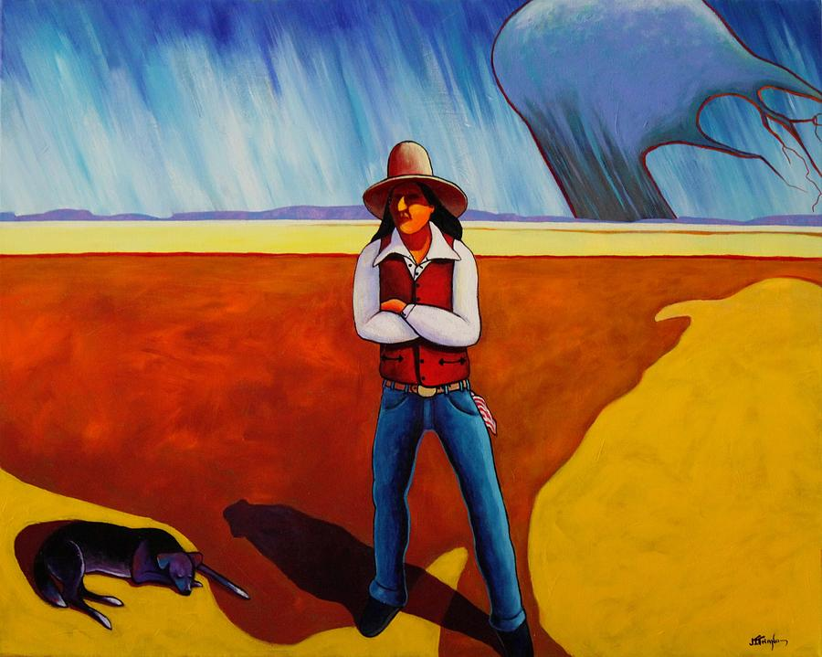 Native American Painting - The Logic Of Solitude by Joe  Triano