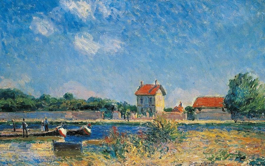 Painting Painting - The Loing Canal At Saint-mammes by Alfred Sisley