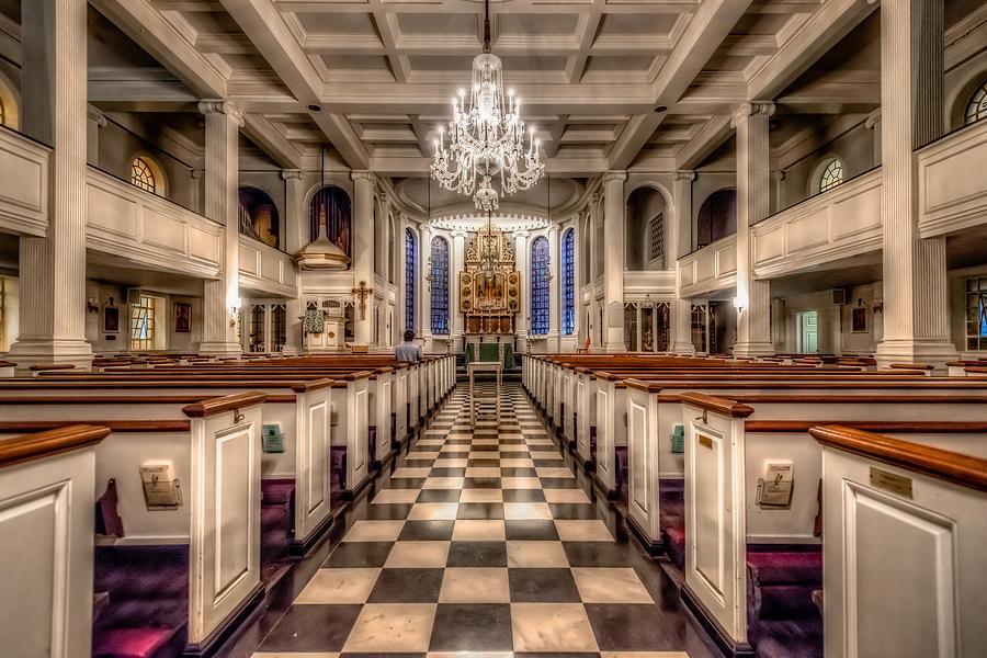Architecture Photograph - The Lone Parishioner by Linda Karlin