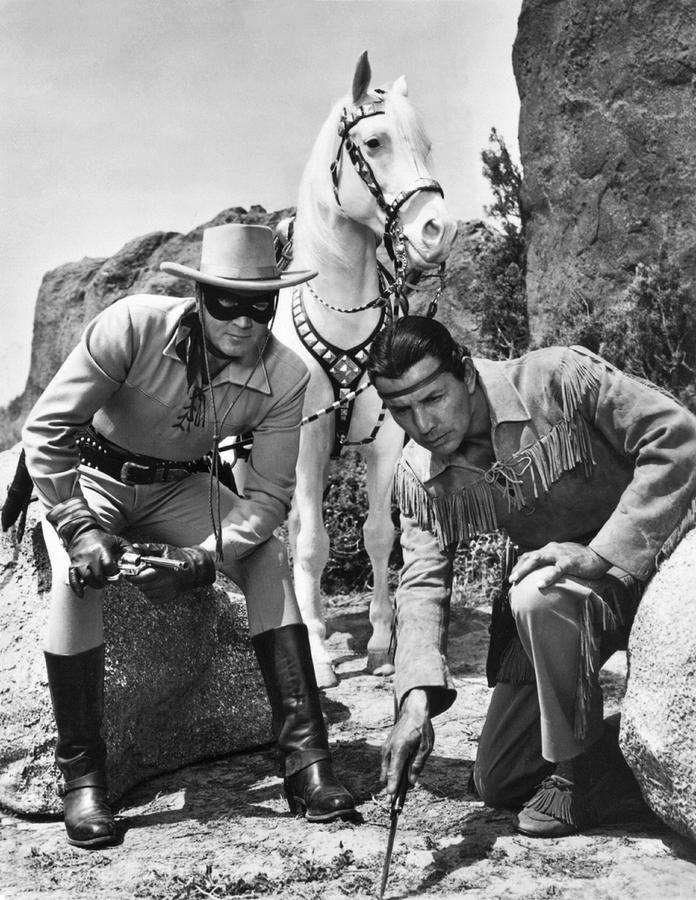 1950's Photograph - The Lone Ranger And Tonto by Underwood Archives