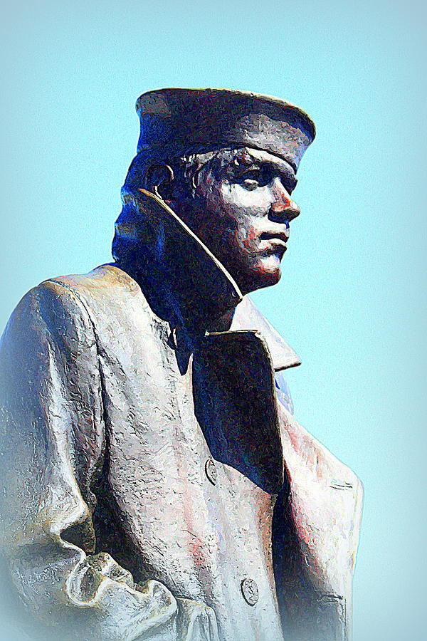 Statue Photograph - The Lone Sailor by Greg Thiemeyer