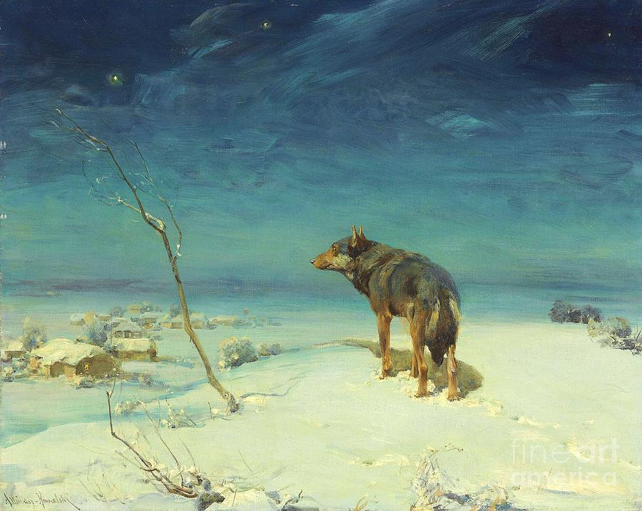 U.s.pd Painting - The Lone Wolf by Pg Reproductions