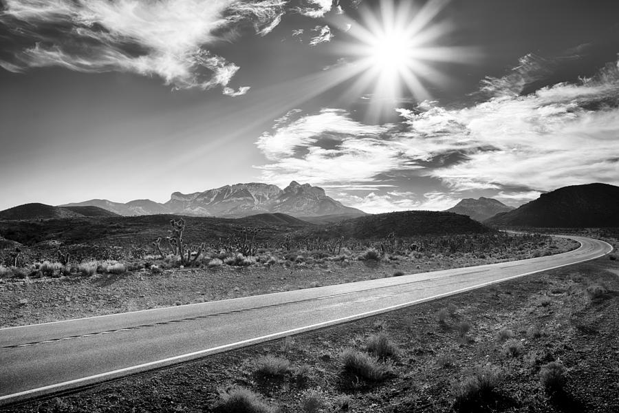 Nature Photograph - The Lonely Road by Howard Salmon