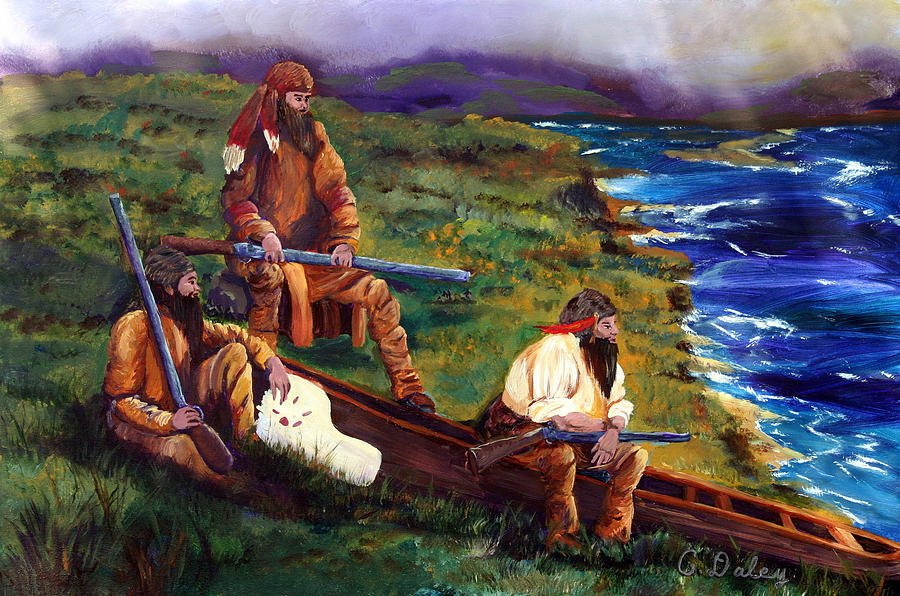 American Painting - The Long Hunters by Gail Daley