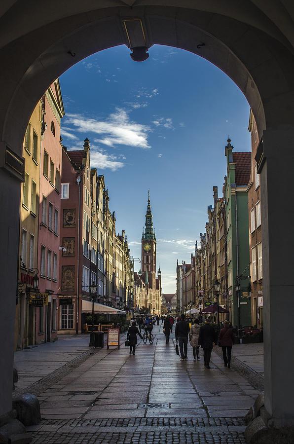 City Photograph - The Long Lane in Gdansk seen from the Golden Gate by Adam Budziarek
