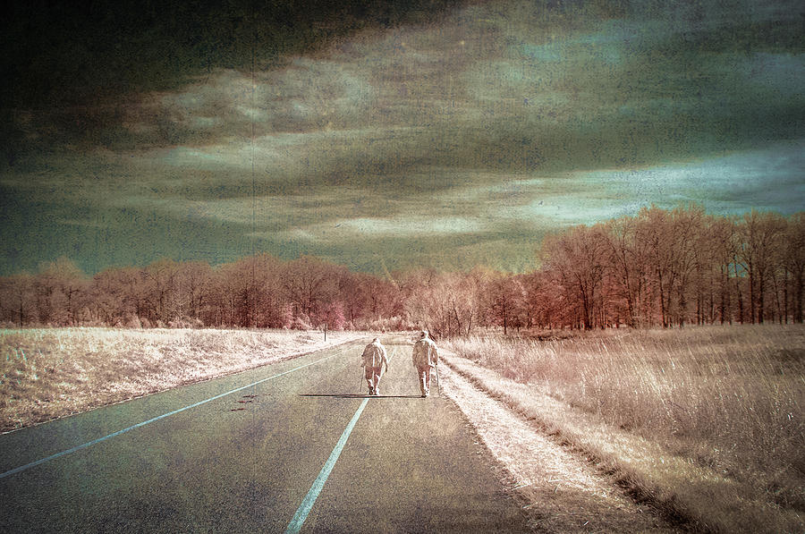 Infrared Photograph - The Long Road by Jay Swisher