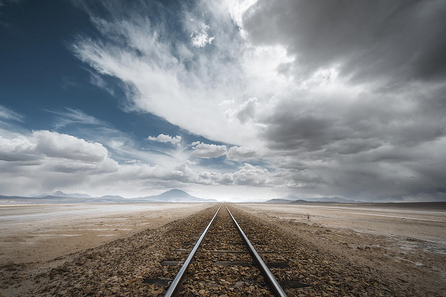 Bolivia Photograph - The Long Road by Rostovskiy Anton