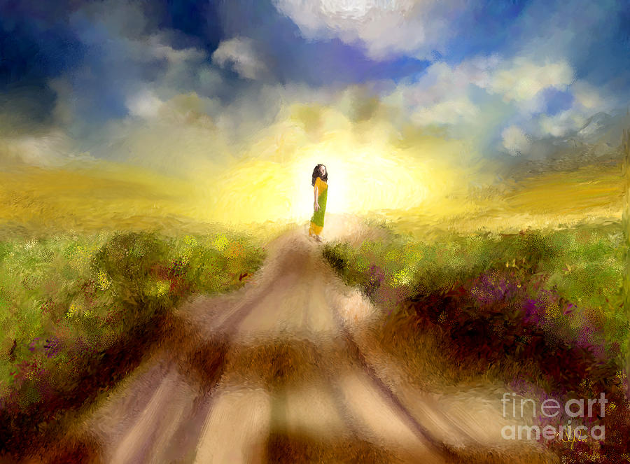 Background Painting - The Long Road by Sydne Archambault