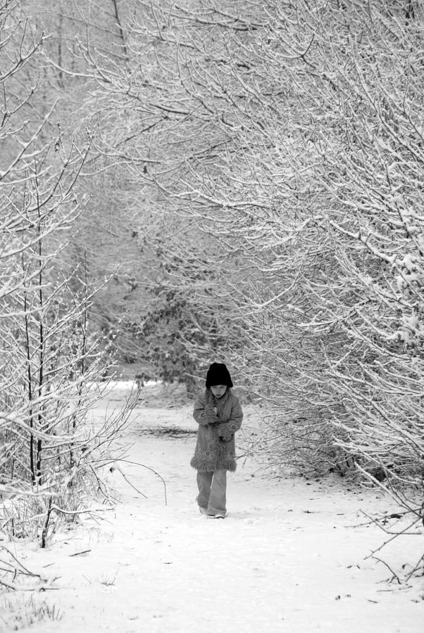Girl Photograph - The Long Walk Home by Andrew James