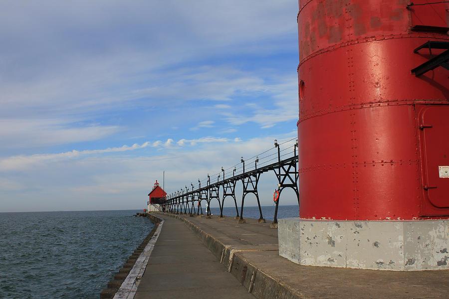 Lighthouse Photograph - The Long Walk by Sheryl Burns