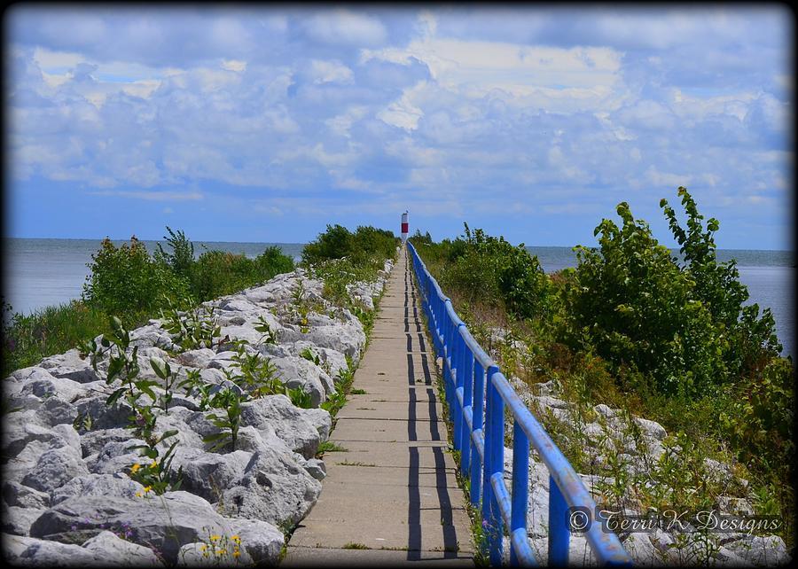 Blue Photograph - The Long Walk by Terri K Designs